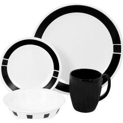 Corelle Livingware 16pc Dinnerware Set Urban Black