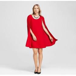 Women's Cape Dress – Alison Andrews Red M