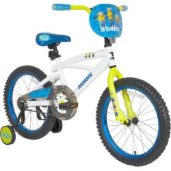 Kids Minions 18-Inch Bike with Training Wheels, Multicolor