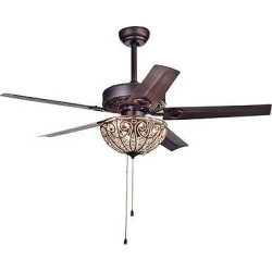 Warehouse Of Tiffany – 23 X 15 X 14 Inch Coffee (Brown) Lighted Ceiling Fans