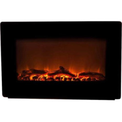 Fire Sense Wall Mounted Electric Fireplace, Black