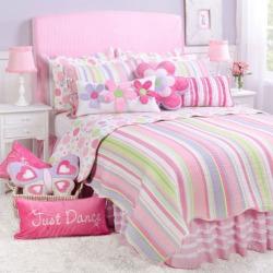 Merrill Girl Reversible Quilt Set, Pink
