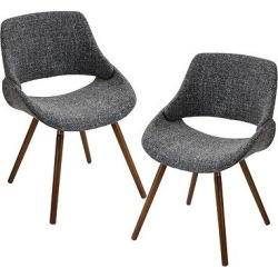 Frabrico Mid Century Modern Chair – Gray Noise Fabric (Set of 2) – LumiSource