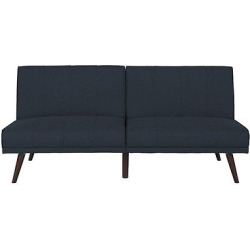 Lone Pine Linen Futon – Navy (Blue) – Dorel Home Products