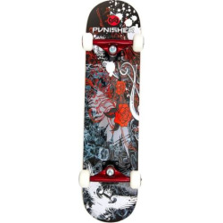 Punisher Skateboards Rose 31-in. Abec-7 Complete Skateboard, Red
