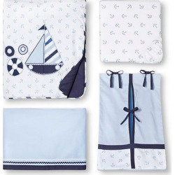 Bacati Crib Bedding Set – 10pc – Little Sailor