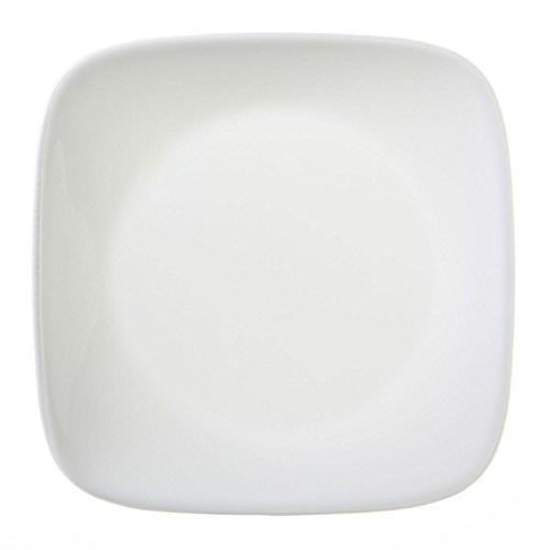 """Corelle Square Pure White 6-1/2"""" Plate (Set of 12)"""
