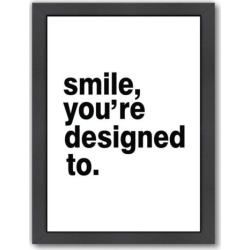 americanflat smile youre designed to framed wall art multicolor - Allshopathome-Best Price Comparison Website,Compare Prices & Save