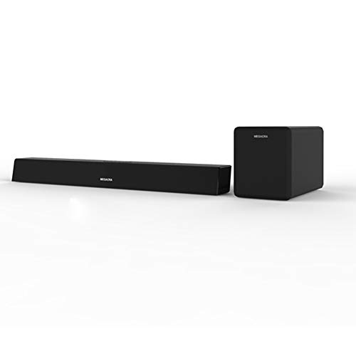 Sound Bar with subwoofer, MEGACRA 2.1 Channel 100Watt Home Theater Sound Bars for TV with Sub Wired and Wireless Connection Bass Adjustable