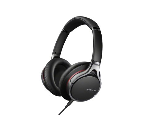 Sony MDR10R Hi-Res Stereo Wired Headphones (Black)
