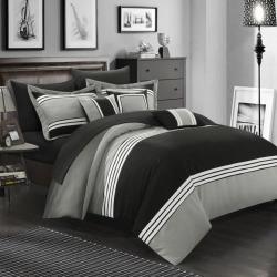 chic home falcon 10 piece bed set black - Allshopathome-Best Price Comparison Website,Compare Prices & Save