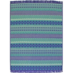 SONOMA Goods for Life™ Dobby Stripe Indoor Outdoor Rug, Blue