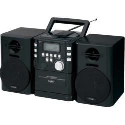 jensen portable cd music system with cassette deck fm stereo radio black - Allshopathome-Best Price Comparison Website,Compare Prices & Save