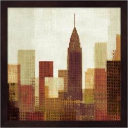Metaverse Art Summer in the City III Framed Wall Art, Brown