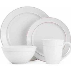 Gourmet Basics Aubrey 16-pc. Dinnerware Set, White