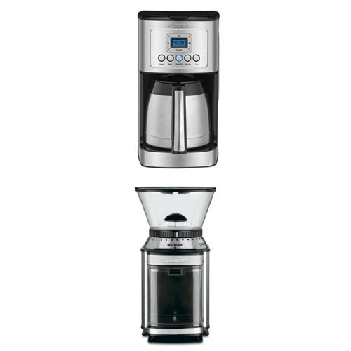 Cuisinart DCC-3400 12-Cup Programmable Thermal Coffeemaker and DBM-8 Burr Grinder Bundle