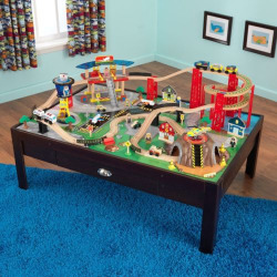 KidKraft Airport Express Train Set and Table, Multicolor
