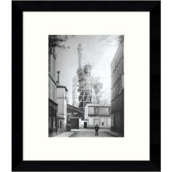 Statue of Liberty in Paris 1886 Framed Wall Art, Black