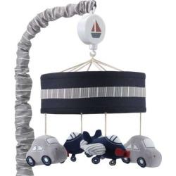 Lambs & Ivy Evan Airplanes & Cars Musical Nursery Mobile, Multicolor
