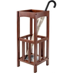 Winsome Rex Umbrella Stand with Metal Tray, Brown