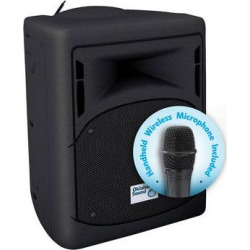 Oklahoma Sound 40W Wireless PA System with Wireless Handheld Microp PRA-8000/PRA8-5