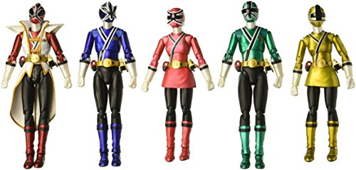 Bandai Tamashii Nations S.H. Figuarts SDCC Power Rangers Samurai Action Figure, 5-Pack