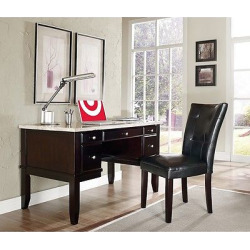 Graham Desk and Chair Set Brown – Steve Silver Co.