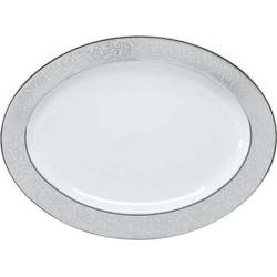 Mikasa Parchment Oval Serving Platter, Multicolor