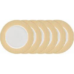 Certified International Elegance Gold Plated Glazed Earthenware Dinner Plates (10.5) Gold – Set of 6