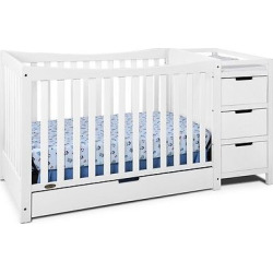 Graco Remi 4-in-1 Convertible Crib and Changer – White