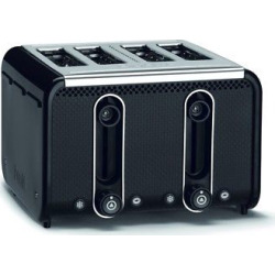 Studio 4 Slice Black Toaster – Black 46430, Black/Polished