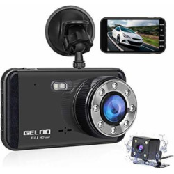 dash cam geloo 1080p 40 inch dual car dashboard camera front and rear 170 - Allshopathome-Best Price Comparison Website,Compare Prices & Save