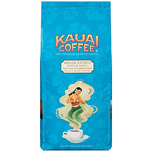 Kauai Whole Bean Coffee, Koloa Estate Medium Roast 3 Pack (32 oz) 100% premium Arabica coffee