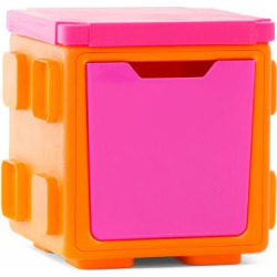 Chillafish BOX Play.Store.Connect Toy Box/Storage with Optional Box Top Red/Orange Orange/Pink – CHIL008-20