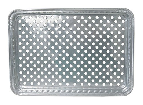 Durable Foil Disposable Aluminum BBQ Grill Topper Pan (Pack of 100)