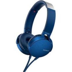 Sony XB550AP Extra Bass On-Ear Headphone – Blue