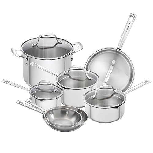 Emeril Lagasse 62950 Emeril cookware Set, Assorted, Silver