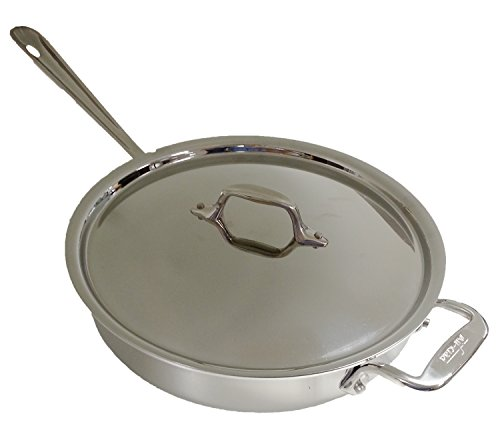 All-Clad 2014 Promo P14 4403 Stainless Steel Tri-Ply Bonded Dishwasher Safe 3-Quart Saute Pan with Lid, Silver