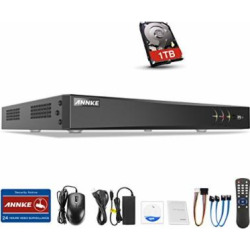 ANNKE Surveillance Digital Video Recorder 16 Channel 3MP HD-TVI/CVI/AHD H264 Full-HD DVR Recorder with 1TB HDD HDMI/VGA/BNC Video Output Cell Phone APPs for Home/ Office,Email Alarm,Motion Detect