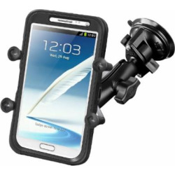 RAM Mounts (RAM-B-166-UN10U) Twist Lock Suction Cup Mount with Universal X-Grip Iv Large Phone/Phablet Holder