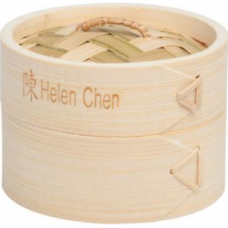 Helen Chen's Asian Kitchen 4-Inch Bamboo Steamers, Set of 2 by HIC Harold Import Co.