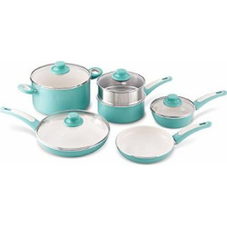 greenpan focus 10pc ceramic non stick cookware set turquoise - Allshopathome-Best Price Comparison Website,Compare Prices & Save