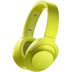 Sony MDR100 h.Ear on Wireless NC On-Ear Bluetooth Headphones w/ NFC – Lime Yellow