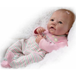 Elizabeth So Truly Real® Lifelike & Realistic Weighted Newborn Baby Doll 18-inches by The Ashton-Drake Galleries