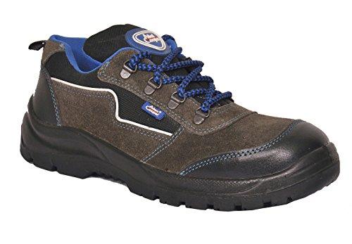 Allen Cooper 1116 Men's Safety Shoe, Size-7 UK, Black-Grey