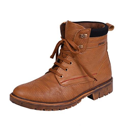 Knoos Mens Wav911-Tan Synthetic Leather Boot-9 Uk-Wav911-Tan-9