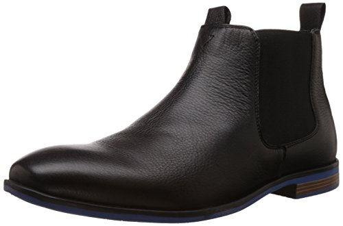Bata Men's Eric Black Leather Boots – 9 UK/India (43 EU) (8046192)