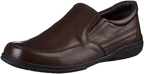 Bata Men's Classic Slip On Brown Leather Loafers and Mocassins – 7 UK/India (41 EU)(8544997)
