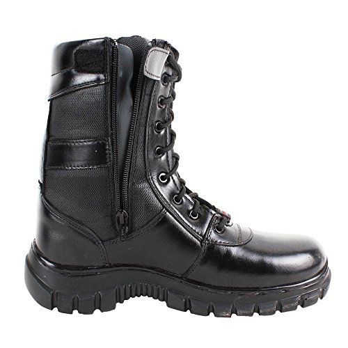 High Ankle Zipper Commando Boots