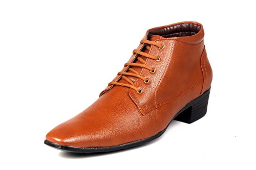 Bxxy Height Increasing Corporate Casual Lace-Up Boots For Men